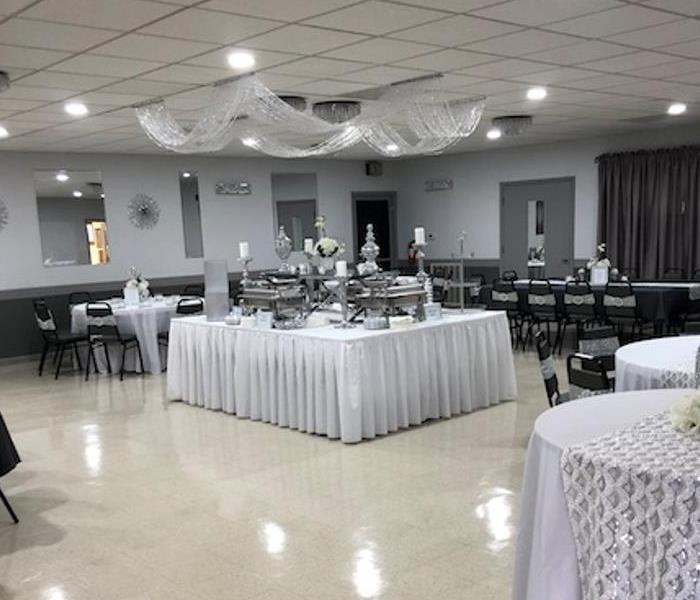 Banquet Hall Soot Clean up After