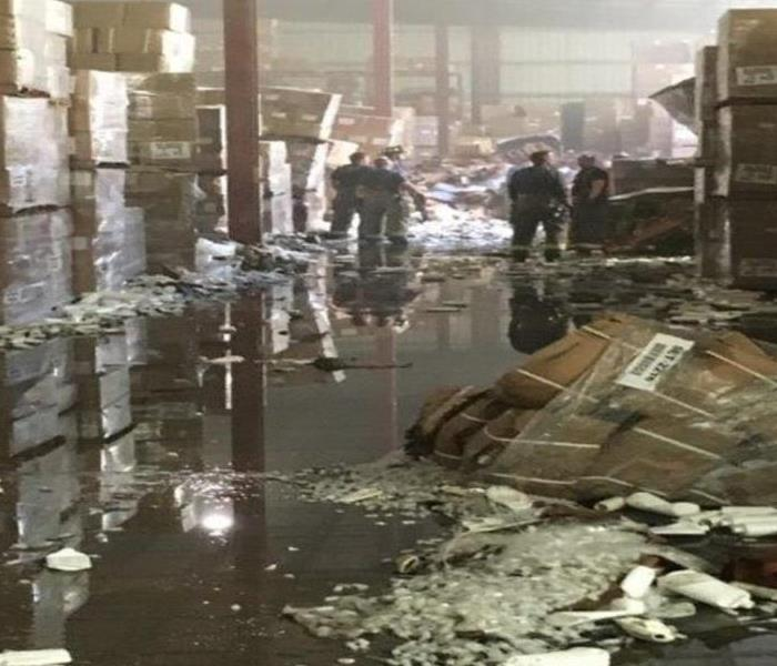 Large Warehouse Fire  Before