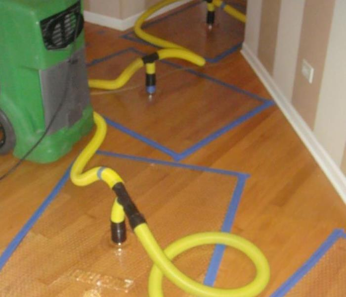 Hardwood Floor drying